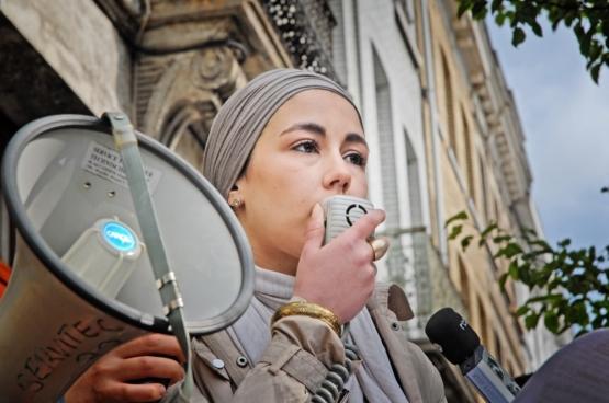 Kenza Isnasni, le 7 mai 2012. Photo : Solidaire