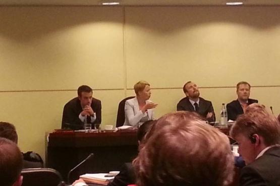 En direct de la commission Extraordinaire de la chambre sur la sécurité d'approvisionnement en électricité de la Belgique cet hiver. (Photo Solidaire)