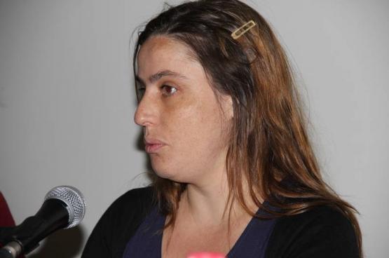 Inès Zuber, députée européenne du Parti communiste portugais : « L'inégalité femmes-hommes est renforcée par les mesures européennes de crise » (Photo Solidaire, Martine Raeymaekers)