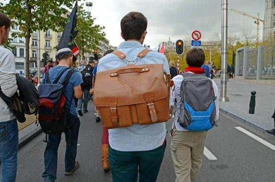 Le 2 octobre dernier, 4000 étudiants ont manifesté à Bruxelles contre l'austérité dans l'enseignement, et notamment contre l'augmentation des frais d'inscription dans l'enseignement supérieur. (Photo Solidaire, Vinciane Convens)