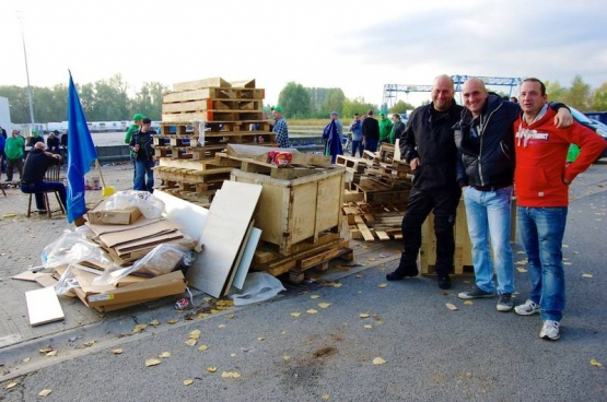 Le centre de distribution Delhaize de Ninove. (Photo Solidaire, Han Soete)