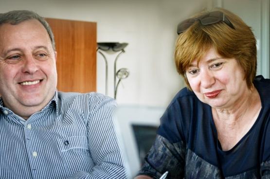 Michel Meyer et Chris Reniers, respectivement président et vice-présidente de la CGSP. (Photo Solidaire)