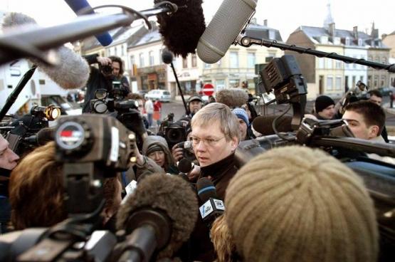Me Jan Fermon lors du procès Dutroux-Martin en 2004
