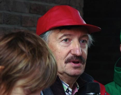 Luk Vandenhoeck (CGSP VRT). (Photo Solidaire, han Soete)