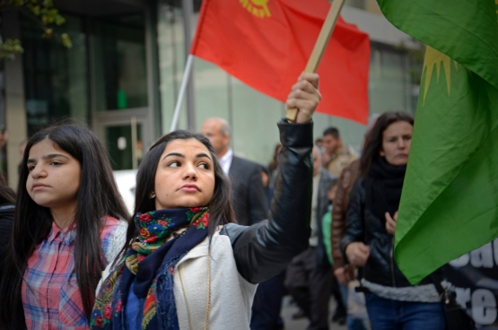 Rassemblement de solidarité à Buxelles le 11 octobre. (Photo Solidaire, Vinciane Convens)