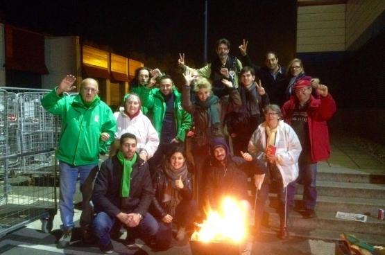 5ème nuit de grève qui commence au centre de tri postal de Bruxelles X (Photo Solidaire)