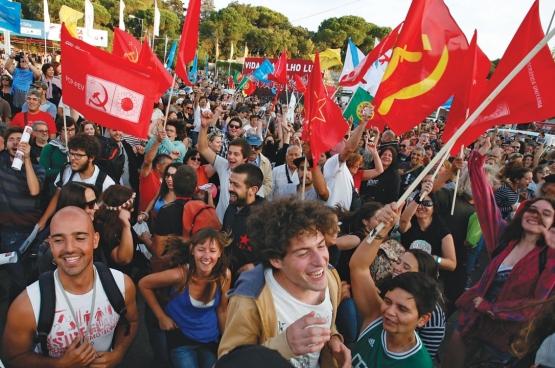 C'est surtout la gauche radicale, anti-austérité, du Parti communiste et le Bloc de gauche, qui a connu une réelle ascension lors du scrutin du 4 octobre dernier (Photo Avante)