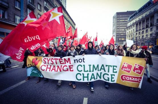 Jos D'Haese: «Le mouvement pour le climat est en train de se reconstruire et nous voulons le renforcer. D'autant plus qu'il y a toujours davantage de liens entre la lutte sociale et la bataille pour le climat.» (Photo mediActivsta / Flickr)
