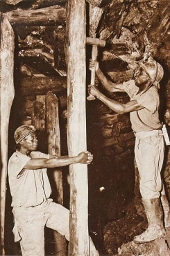 Au Congo, des profits plantureux engrangés grâce à l'exploitation sans merci des populations locales. (Photo Het geheugen van Congo, de koloniale tijd, ed. Snoeck)