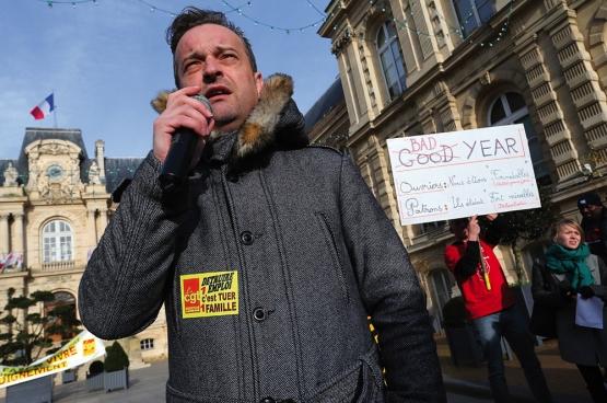 Mickaël Wamen, délégué CGT chez Goodyear, fait partie des syndicalistes condamnés. (Photo Franck Antson)