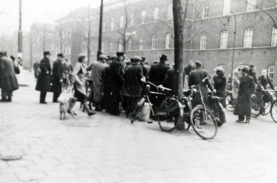 Il n'existe qu'une photo de la grève de février 1941. Sous l'Occupation, il était interdit aux médias de couvrir ces événements.