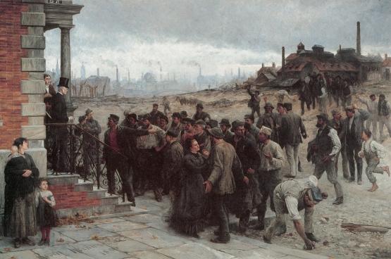 Der Streik (La Grève), Robert Koehler, 1886.