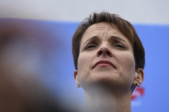 Frauke Petry, présidente du parti d'extrême-droite AfP, gagnant des dernières élections en Allemagne.