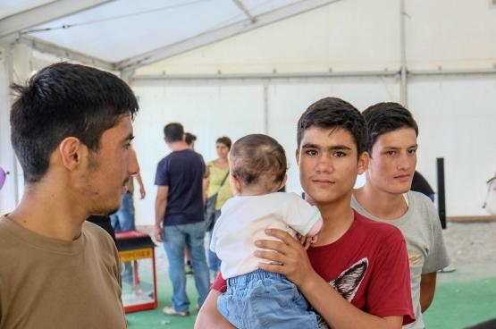 Eleonas Refugee Centre, à Athènes, Grèce. 10 septembre 2015. Photo Flickr, Martin Leveneur.