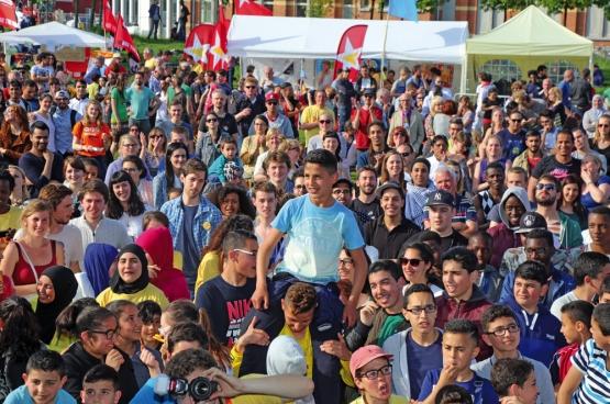 Le mouvement de jeunes du PTB d'Anvers a lancé son festival Diversity In Antwerp City en mai 2015. Près de 4000 personnes avaientrépondu à l'appel. (Photo Solidaire, Salim Hellalet)