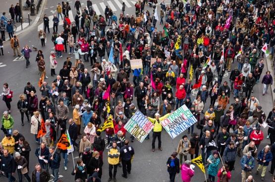 Paris, 09/04/2016. Manifestation contre la réforme du travail en France. (Photo Flickr, copivolta)
