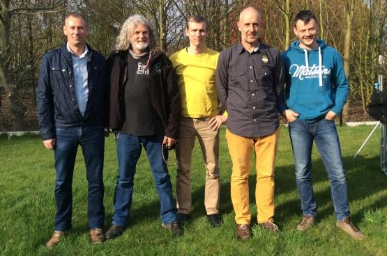 Marc, Erwin, Robbie, Stefan et Julian. L'équipe FGTB de l'entreprise chimique limbourgeoise Vynova.
