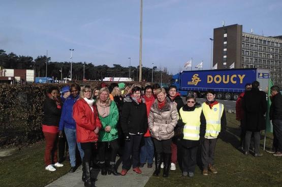 La détermination de la délégation syndicale a permis de conserver les acquis des travailleurs. (Photo Solidaire, Brecht Bruynsteen)