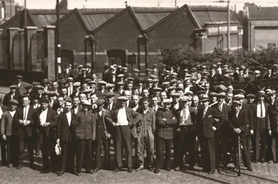 Gand, juin 1936. Le pays est bloqué dans son entièreté. (Photo Amsab-Institut d'Histoire Sociale, Gand)