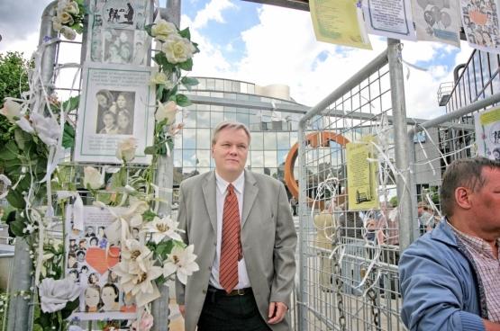L'avocat Jan Fermon au procès de Marc Dutroux, qui s'est terminé en 2004. (Photo Solidaire, Salim Hellalet)