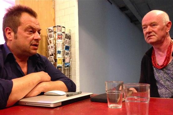 Joris Van der Borght, directeur administratif et président et Laura van, directrice artistique, de Croxhapox. (Photo Solidaire, Dirk Tuypens)