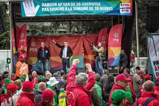 Le 24 mai dernier, des dizaines de milliers de personnes manifestaient à l'appel des syndicats contre la Loi Peeters. (Photo Solidaire, Salim Hellalet)
