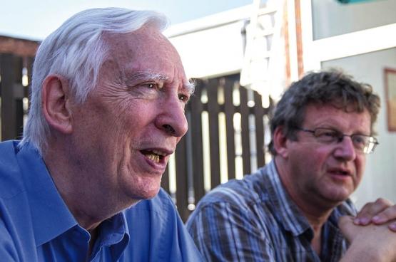 Johan Hoebeke et Dirk Van Duppen (Photo Solidaire, han Soete)