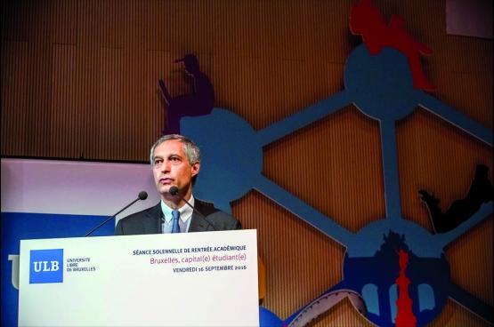 Pierre Gurdjian, président du conseil d'administration de l'ULB, n'est autre que l'ex-directeur général du bureau belge de McKinsey. (Photo ULB / Facebook)