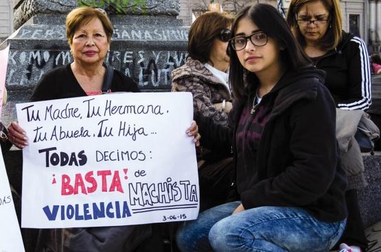 """«Ta mère, ta soeur, ta grand-mère, ta fille... Toutes nous disons: """"Basta à la violence machiste""""». (Photo Flickr/Colectivo La Luz)"""