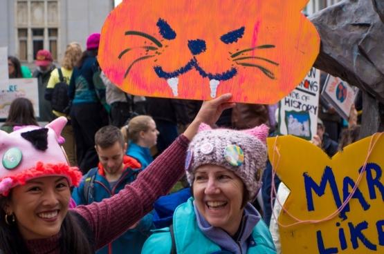 Des manifestantes à Oakland. (Photo Jar (O) / Flickr)