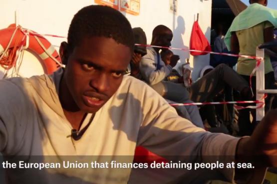 Capture d'écran de la vidéo de MSF_Sea sur Twitter