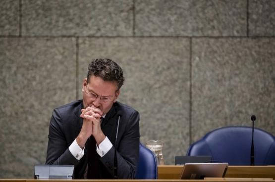 Le ministre social-démocrate des Finances Jeroen Dijsselbloem va perdre son poste de ministre. Il préside toujours l'Eurogroupe (qui réunit les pays de la zone euro) et est tristement célèbre pour son approche très musclée de la question grecque. (Photo Belga)