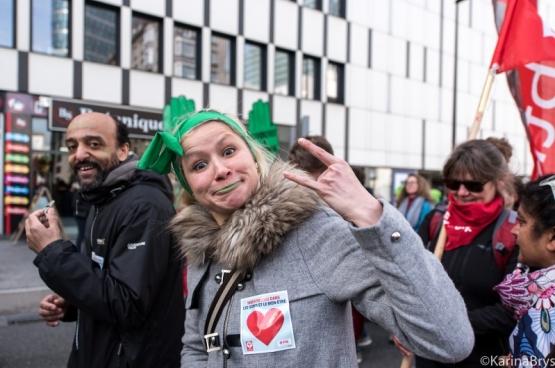 Le 21 mars dernier, plus de 15 000 travailleurs du non-marchand manifestent à Bruxelles contre le manque d'effectifs et l'augmentation de la charge de travail. (Photo Solidaire, Karina Brys)