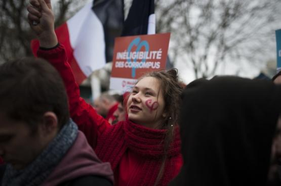Le 18 mars dernier, à l'initiative de Jean-Luc Mélenchon, avait lieu la Marche pour la 6e République à Paris. (Photo Geoffrey Froment / Flickr)