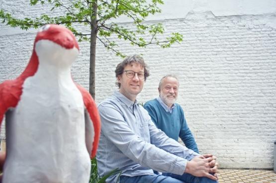 Mario Franssen (à gauche) et Rik Vermeersch. (Photo Solidaire, Salim Hellalet)