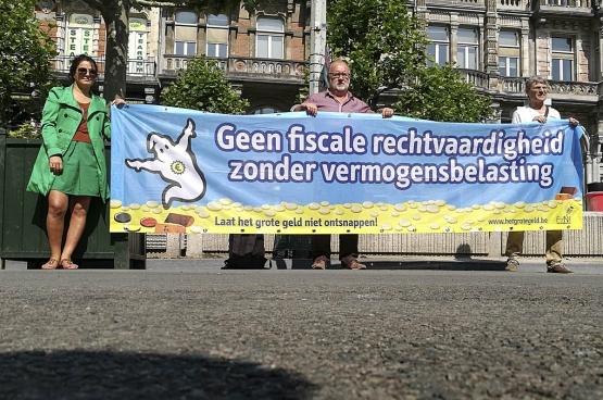 «Pas de justice fiscale sans impôt sur la fortune». (Photo Solidaire, han Soete)