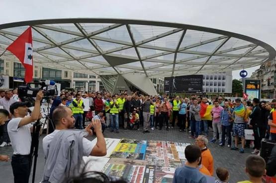 Le 24 juin, une manifestation de soutien au mouvement marocain a eu lieu à Bruxelles. (Photo Mohamed Aadel)