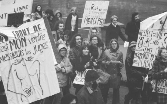 Manifestation pour le droit à l'avortement en 1974. (Photo Solidaire DR)