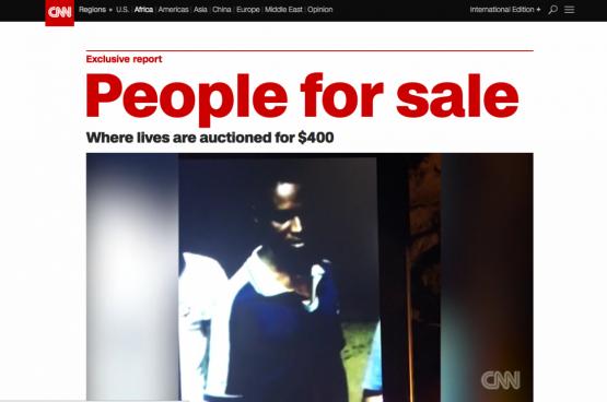 Le reportage où on peut voir le retour de l'esclavage en Libye, diffusé le 14 novembre dernier par CNN, a fait du bruit... (Capture d'écran CNN)