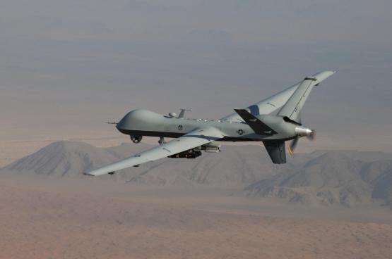 Un MQ-9 Reaper en patrouille.  (Photo www.afrc.af.mil Lt. Col. Leslie Pratt)
