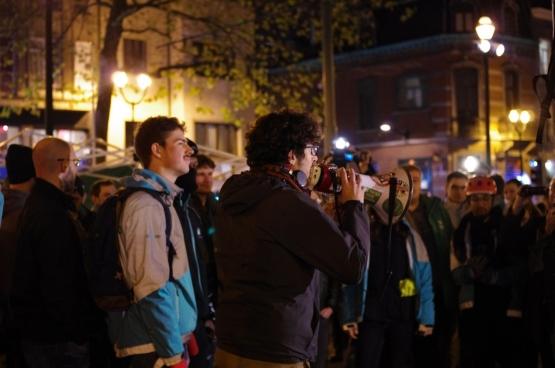 Les coursiers ne se laissent pas faire. A l'appel du Collectif des coursiers/ères Belgique, une cinquantaine d'entre eux se sont rassemblés à Bruxelles en novembre dernier. (Photo Solidaire)