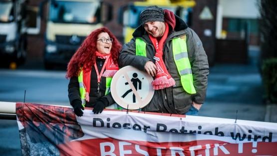 Depuis le 8 janvier, le syndicat allemand IG Metall a lancé des grèves de 24 heures partout dans le pays. Avant une grève générale illimitée ? (Photo IG Metall)
