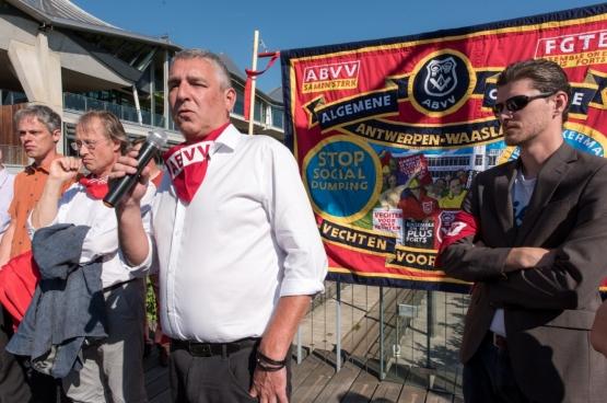 Bruno Verlaeckt, président de la FGTB Anvers. (Photo Solidaire, Karina Brys)