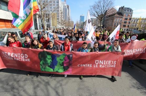 Le 24 mars dernier, une manifestation nationale a rassemblé 5000 personnes contre le racisme à Bruxelles. (Photo Solidaire, Dieter Boone)