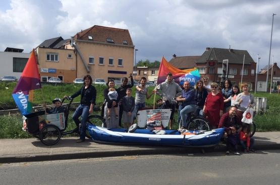 La gratuité des transports publics est une revendication prioritaires du PTB à Louvain. (Photo PTB Louvain)