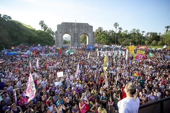 Manifestation anti-Bolsonaro, nouveau président brésilien. (Photo Flickr/CPERS sindicato)