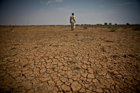 La désertification frappe durement. Et lorsqu'il pleut, les quantités d'eau sont tellement importantes que les semences et les terres agricoles sont emportées par les eaux. (Photo Oxfam International)