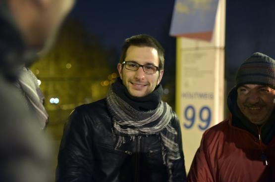Michaël Verbauwhede. (Photo Solidaire, Antonio Gomez Garcia)