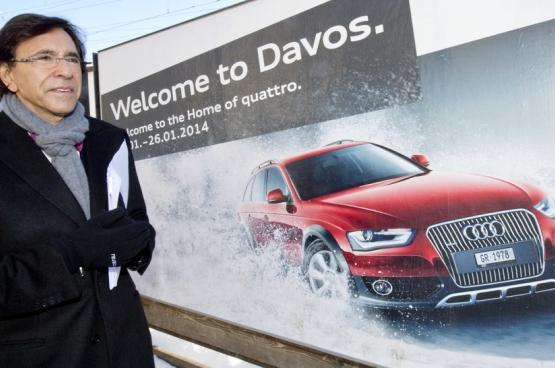 Elio Di Rupo, alors Premier ministre, vantait le système fiscal belge aux patrons des multinationales au Sommet de Davos. (Photo Belga)
