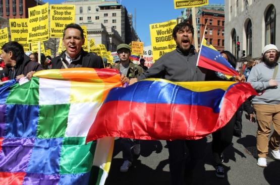 Manifestation à Washington contre l'ingérence des USA au Venezuela. (Photo Elvert Barnes / Flickr)